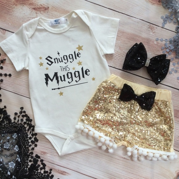 ad4a26ccf28a Matching Sets | Boutique Baby Girl Harry Potter 3pc Outfit | Poshmark